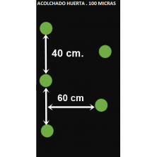 ACOLCHADO HUERTA. 20X1 M PERFORADO