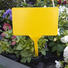 Pincho señalización plantas amarillo. 50 ud