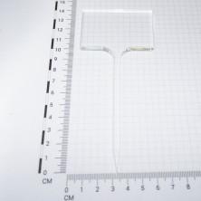 Pincho señalización rectangular Incoloro/Blanco