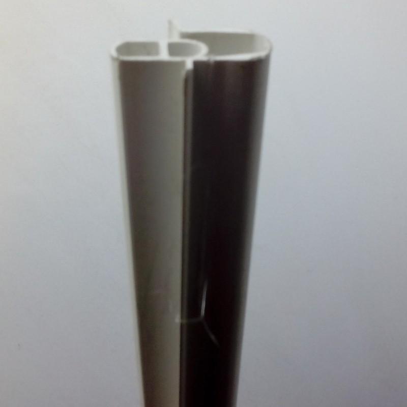 PERFIL DE PVC DOS PIEZAS. 3 METROS LARGO