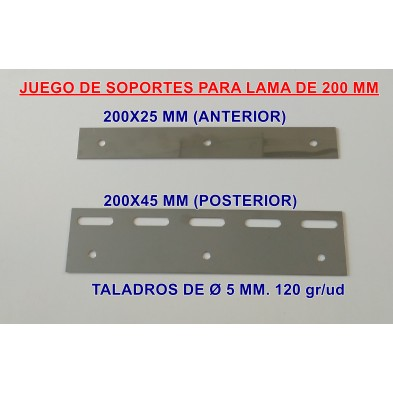 SOPORTES PARA LAMAS DE PVC FLEXIBLE