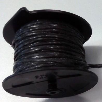 ROLLERHOOK  CARRETE NEGRO 25 MTS(50 UDS)